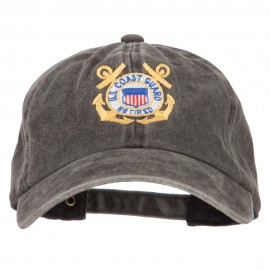 US Coast Guard Retired Anchors Embroidered Washed Cotton Cap