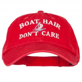 Boat Hair Don't Care Embroidered Low Profile Cotton Cap