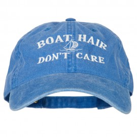 Boat Hair Don't Care Embroidered Washed Cotton Twill Cap