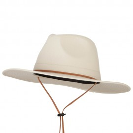 Men's Cotton Canvas Outback Style Fedora Hat
