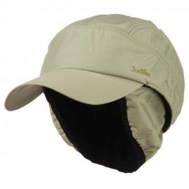Outdoor Cap with Detachable Ear and Neck Warmer - Khaki