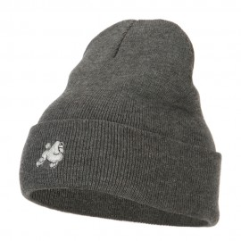 Poodle Dog Embroidered Long Beanie