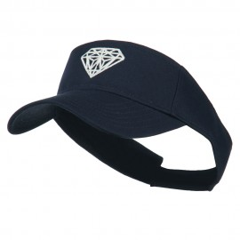 Diamond Outline Embroidered Visor - Navy