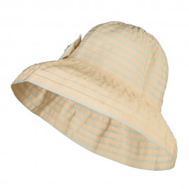 Crushable Lady's Rose Accent Bucket Hat