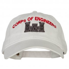 US Army Corps of Engineers Embroidered Washed Buckled Cap