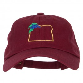 Oregon Grape with Map Embroidered Unstructured Washed Cap
