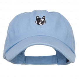 Boston Terrier Dog Face Embroidered Cap