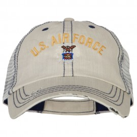 US Air Force Embroidered Low Profile Cotton Mesh Cap