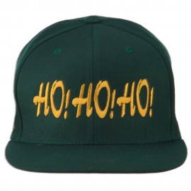 Christmas Letter Ho Ho Ho Embroidered Flat Bill Cap