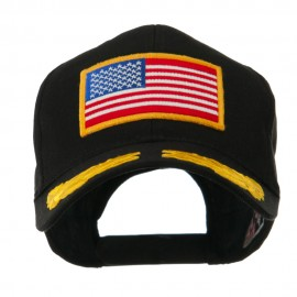 Oak Leaves and American Gold Flag Patch Cap