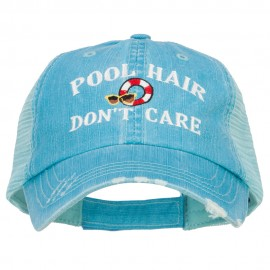 Pool Hair Don't Care Embroidered Cotton Mesh Cap
