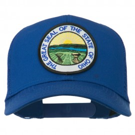 Ohio State Seal Patched Mesh Cap - Royal