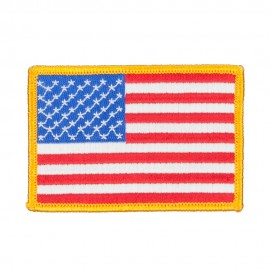 Flag Outlined Embroidered Patches