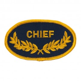Oak Leaf Embroidered Military Patch - Chief