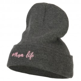 Momlife Embroidered Long Beanie