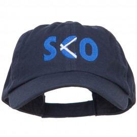 Scotland SCO Flag Embroidered Low Profile Cap