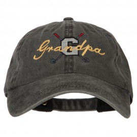 Golf Grandpa Embroidered Washed Cotton Twill Cap