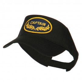 Oak Leaf Captain Military Patched Sun Visor - Black