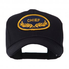 Oak Leaf Oval Shape Military Patch Cap - Chief