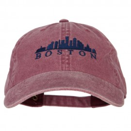 Boston Skyline Embroidered Washed Cotton Twill Cap
