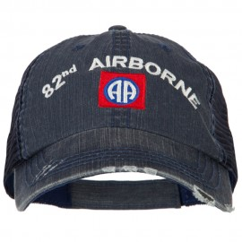 US Army 82nd Airborne Embroidered Low Profile Cotton Mesh Cap