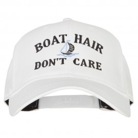 Boat Hair Don't Care Embroidered Solid Cotton Pro Cap