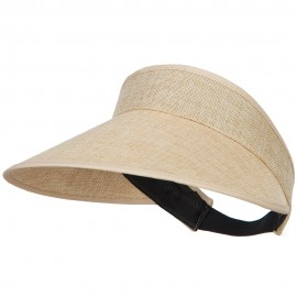 Women's Polyester Elastic Back Visor - Natural