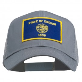 Oregon State Flag Patched Mesh Cap