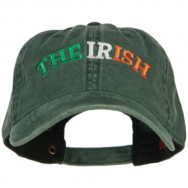 Wording of The Irish Embroidered Washed Cotton Cap