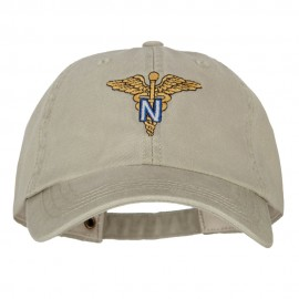 Army Nurse Corps Officer Embroidered Big Size Washed Cap