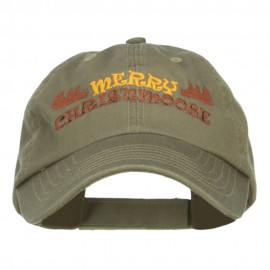Merry Christmoose Embroidered Low Cap