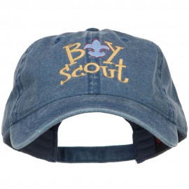Boy Scout Logo Embroidered Washed Cap