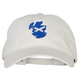 Scotland Flag Map Embroidered Washed Cotton Twill Cap