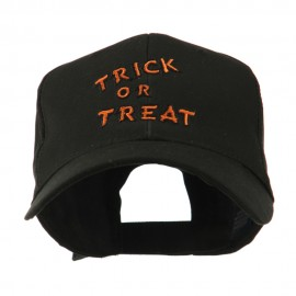 Halloween Orange Trick or Treat Embroidered Cap