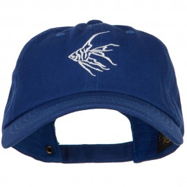 Angelfish Outline Embroidered Unconstructed Cap