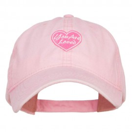 You are Loved Embroidered Washed Cap