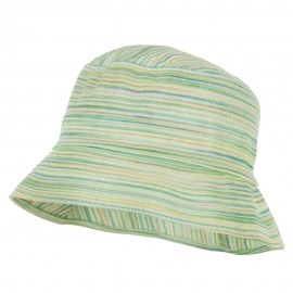 Woman's Multicolored Bucket Hat - Lime