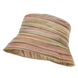 Woman's Multicolored Bucket Hat - Pink