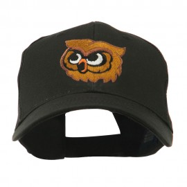 Brown Owl Mascot Embroidered Cap