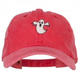 Halloween Ghost Embroidered Unstructured Cotton Cap