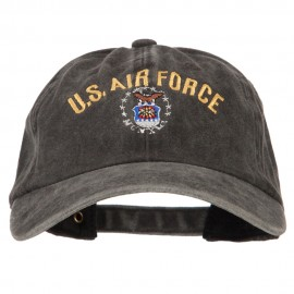 US Air Force Logo Military Embroidered Washed Cotton Twill Cap