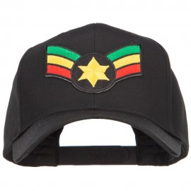 Crown Wing Star Rasta Patched Cap