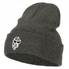 Hockey Mask Costume Embroidered Long Beanie