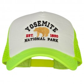 Yosemite National Park Embroidered Cotton Trucker Big Size Mesh Cap