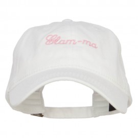 Glam Ma Embroidered Washed Cap