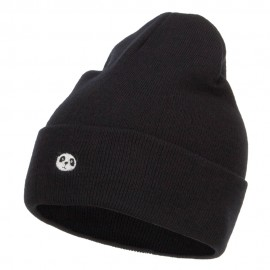 Mini Panda Embroidered Long Beanie