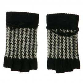 Patterned Angora Blend Fingerless Glove