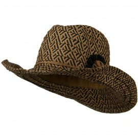 Woman's Paper Braid Wired Brim Cowboy Hat - Black