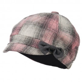 Women's Plaid 6 Panel Cabbie Cap