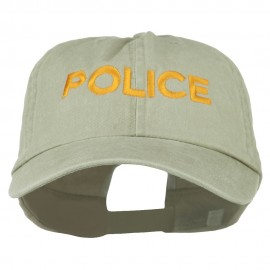 Police Letter Embroidered Big Size Washed Cap